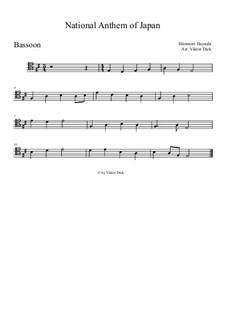 Kimigayo (Japanese National Anthem): For bassoon by Hiromori Hayashi