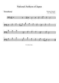 Kimigayo (Japanese National Anthem): para trombone by Hiromori Hayashi