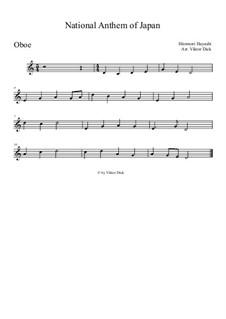 Kimigayo (Japanese National Anthem): For oboe by Hiromori Hayashi
