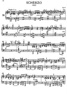 Scherzo in C Major, Op.46: Para Piano by Alexander Scriabin