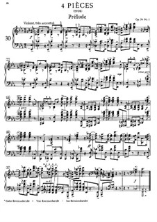 Four Pieces, Op.56: Para Piano by Alexander Scriabin