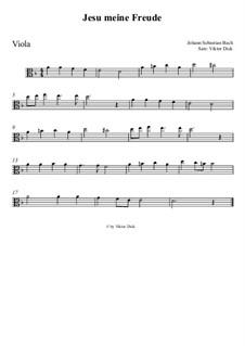 Jesu, meine Freude, BWV 227: Für Bratsche by Johann Sebastian Bach
