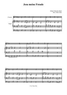 Jesu, meine Freude, BWV 227: Für Klarinette und Orgel by Johann Sebastian Bach