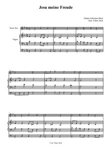 Jesu, meine Freude, BWV 227: Für Tenorsaxophon und Orgel by Johann Sebastian Bach