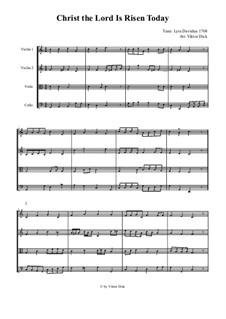 Christ the Lord Is Risen Today: para quartetos de cordas by folklore