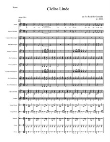 Cielito Lindo: For elementary mariachi orff ensemble by folklore