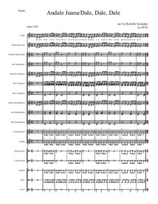 Andale Juana/ Dale, Dale, Dale: For elementary mariachi orff ensemble by folklore