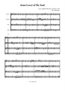 Jesus, Lover of My Soul: para quartetos de cordas by Joseph Parry