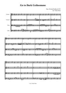 Go to Dark Gethsemane: para quartetos de cordas by Richard Redhead