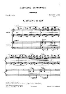 Rapsodie espagnole, M.54: dois pianos de quatro mãos by Maurice Ravel