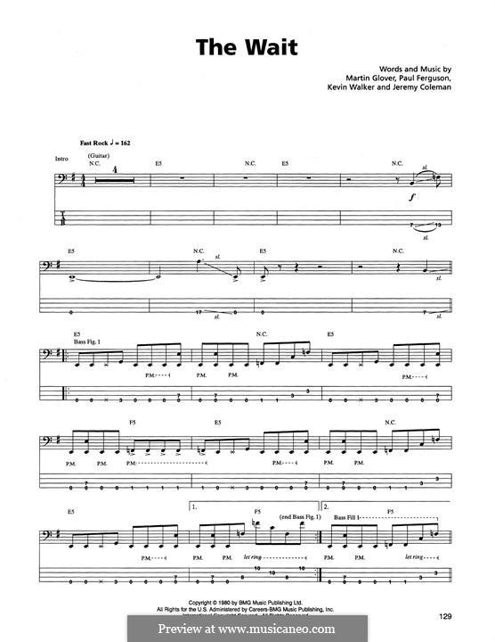 The Wait (Metallica): para baixo com guia by Jaz Coleman, Kevin Walker, Martin Glover, Paul Ferguson