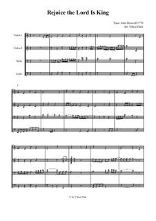 Rejoice the Lord Is King: para quartetos de cordas by John Darwall