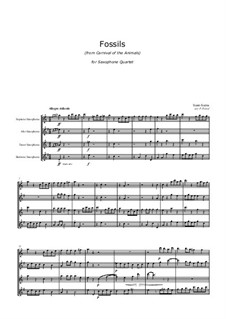 Fossils: para quarteto de saxofone by Camille Saint-Saëns