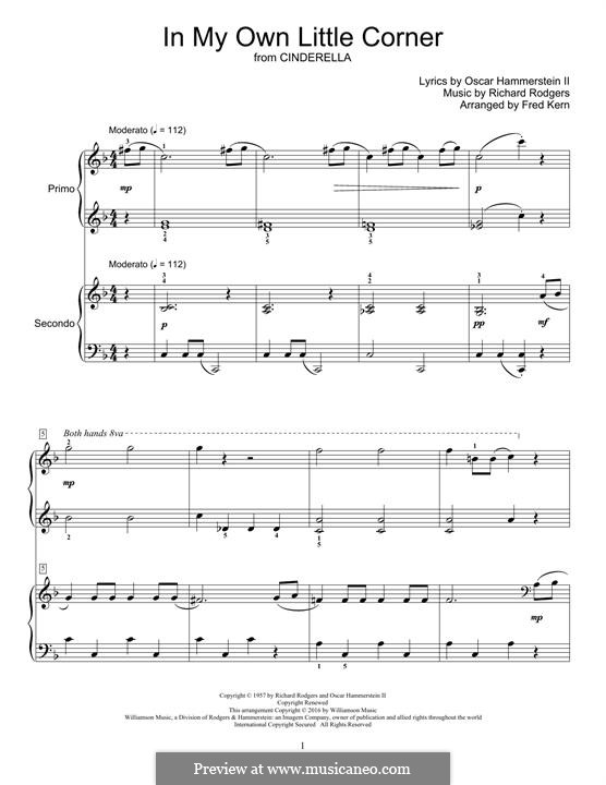 In My Own Little Corner (from Cinderella): Para Piano by Richard Rodgers