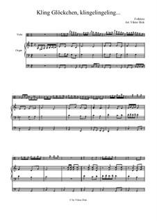 Kling Glöckchen klingelingeling: Für Bratsche und Orgel by folklore