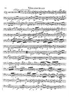 String Quartet No.16 in E Flat Major, K.428: parte violoncelo by Wolfgang Amadeus Mozart