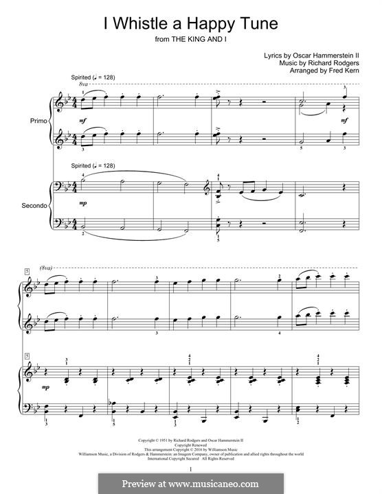 I Whistle a Happy Tune (from The King and I): Para Piano by Richard Rodgers