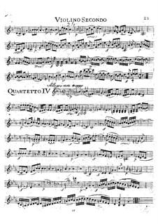 String Quartet No.17 in B Flat Major 'Hunt' , K.458: violino parte II by Wolfgang Amadeus Mozart