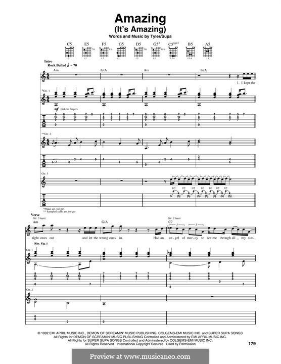Amazing (It's Amazing): Para guitarra com guia by Richard Supa, Steven Tyler