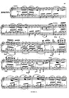 Concerto for Piano and Orchestra No.20 in D Minor, K.466: movimento II. Arranjo para piano by Wolfgang Amadeus Mozart