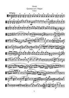 String Quintet No.3 in C Major, K.515: viola parte I by Wolfgang Amadeus Mozart