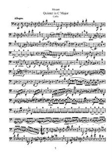 String Quintet No.3 in C Major, K.515: parte violoncelo by Wolfgang Amadeus Mozart