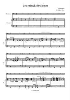 Snow Falls Softly at Night: para trombone e piano by Eduard Ebel