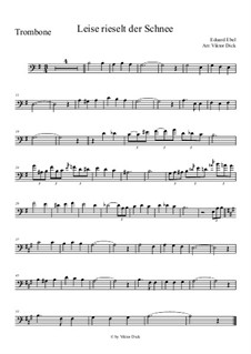 Snow Falls Softly at Night: para trombone by Eduard Ebel