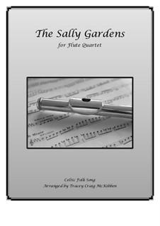 Salley Gardens: para quarteto de flauta by Herbert Hughes