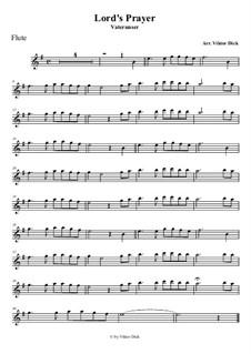 Lord's Prayer: para flauta by folklore