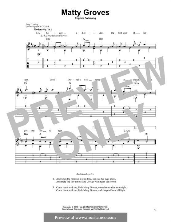 Matty Groves: Para Guitarra by folklore