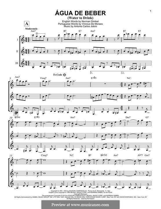 Agua de Beber (Water To Drink): For any instrument by Antonio Carlos Jobim