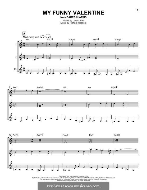 My Funny Valentine: For any instrument by Richard Rodgers
