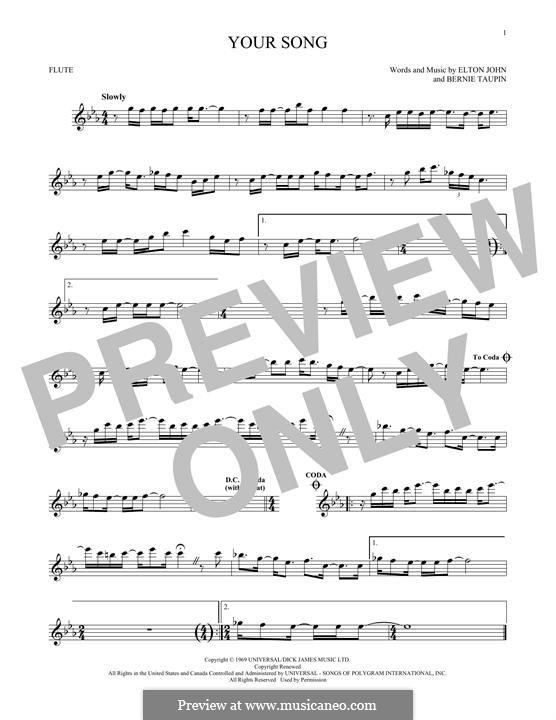 Your Song: para flauta by Elton John