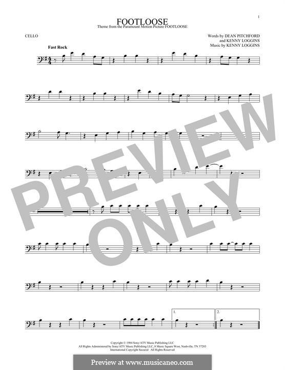 Footloose: para violoncelo by Kenny Loggins