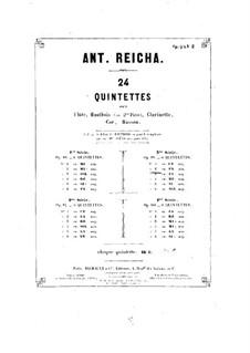 Woodwind Quintet in F Minor, Op.99 No.2: parte Oboe by Anton Reicha