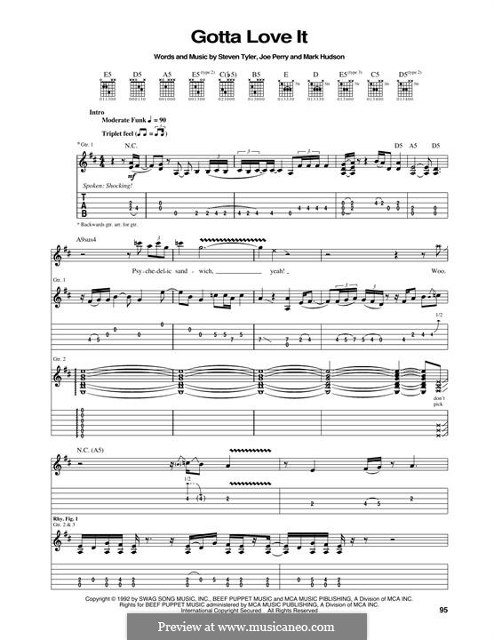 Gotta Love It (Aerosmith): Para guitarra com guia by Joe Perry, Mark Jeffrey Hudson, Steven Tyler