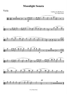 Movement I: para viola by Ludwig van Beethoven