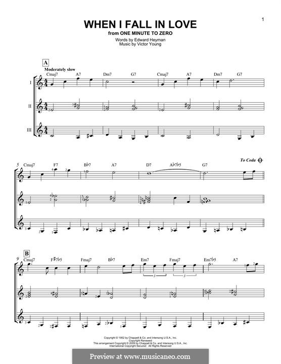 When I Fall in Love (Celine Dion): For any instrument by Victor Young