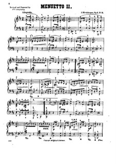 Four Piano Pieces, Op.1: No.3 Minuet II by Josef Gabriel Rheinberger