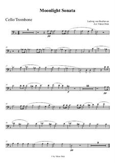Movement I: para trombone by Ludwig van Beethoven