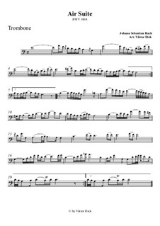 Aria: Version for trombone by Johann Sebastian Bach