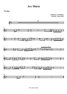 Ave Maria, D.839 Op.52 No.6: para violino by Franz Schubert