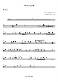 Ave Maria, D.839 Op.52 No.6: para violoncelo by Franz Schubert