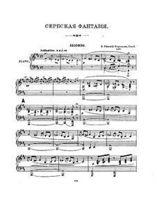 Fantasia on Serbian Themes, Op.6: para piano de quadro mãos by Nikolai Rimsky-Korsakov