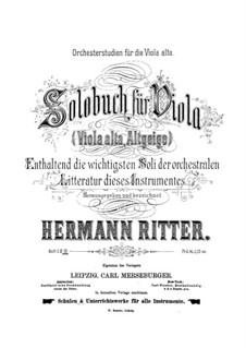 Orchestral Excerpts for Viola: book III by Hermann Ritter