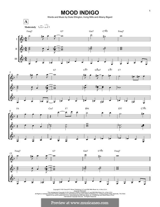 Mood Indigo: For any instrument by Irving Mills, Albany Bigard, Duke Ellington