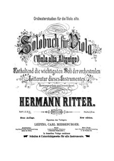 Orchestral Excerpts for Viola: livros IV by Hermann Ritter