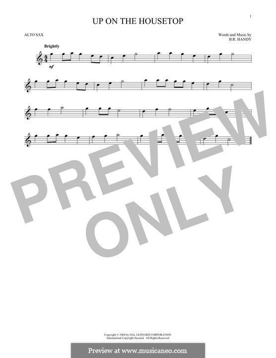 Up on the House Top: para Saxofone Alto by Benjamin Russel Hanby