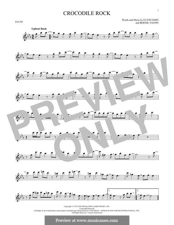 Crocodile Rock: para flauta by Elton John